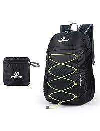 Leaper Outdoor Ultralight Waterproof Travel Backpack 25L Foldable Shoulder Bag Daypack Black