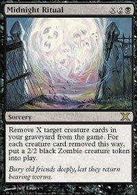 Magic The Gathering 10th Edition Decks - Magic: the Gathering - Midnight Ritual (158/383) - Tenth Edition