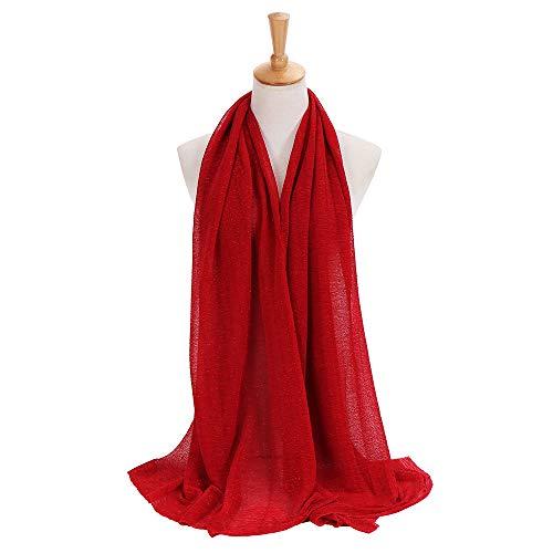 Élégant Écharpe Solide Foulards Châle Femme Hijab Rouge Aimee7 Couleur Grand Longue Vintage EdwvEqx7