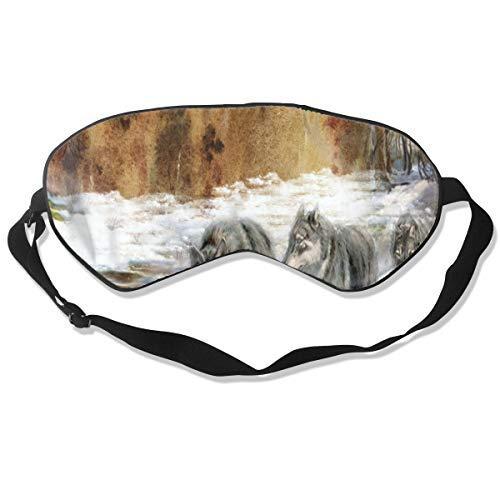 Eye Mask Early Winter Wolves Customized Eyeshade Sleep Mask Soft for Sleeping Travel for Men -