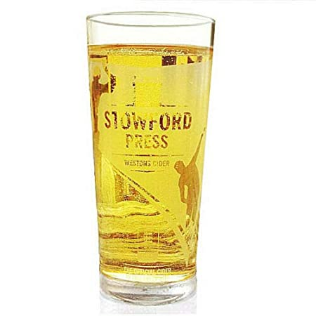 New Beer 4 x STOWFORD PRESS WESTONS CIDER Half Pint Glasses Breweriana