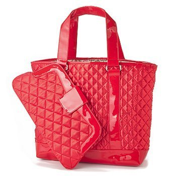 Amazon.com : Perlina Quilted Satin Tote &