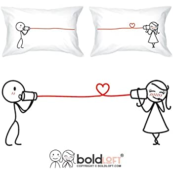 BOLDLOFT Say I Love You Couples Pillowcases- Couples Gifts, Couple Gifts for Him and Her, His and Hers Gifts, Girlfriend Gifts, Wife Gifts, Gifts for Her, Anniversary Gifts, Wedding Gifts