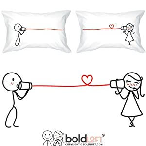 Amazon.com: BOLDLOFT Say I Love You Couples Pillowcases-Romantic Christmas Gifts for HerCute ...