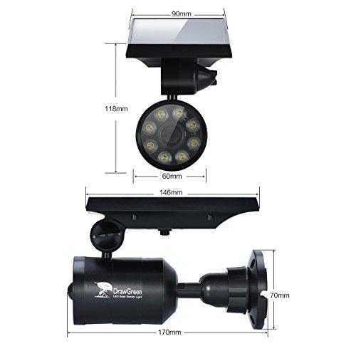 Solar Motion Sensor Light,1400 Lumens Bright LED Spotlight 5W(110W Equiv.