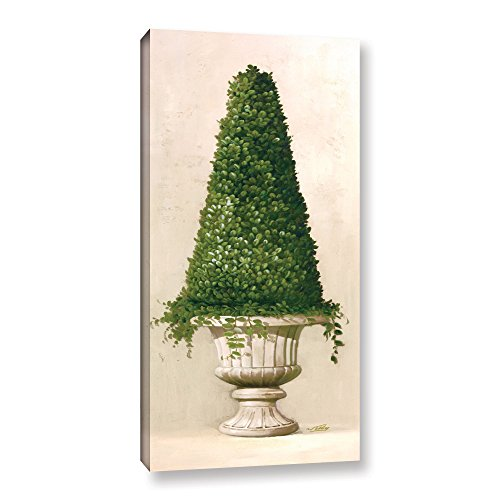 (Welby ''Florentine Topiary II'' Gallery Wrapped Floater-framed Canvas, 18X36)