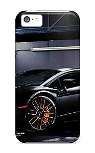 (nIJDLnk5759RsxeF)durable Protection Case Cover For Iphone 5c(lamborghini Aventador Black Vellano)