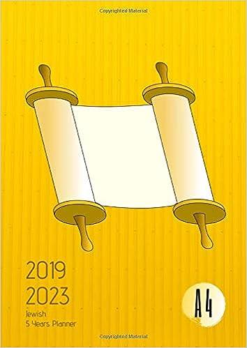 2019-2023 Five Year Planner A4 Jewish Goals Monthly Schedule ...