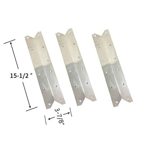 Grill Parts Zone Better Homes & Gardens BG1755B, BH13-101-099-02,Mission BG1764B-A, Mission BG1764B-B, (3-PK) Stainless Heat Shield