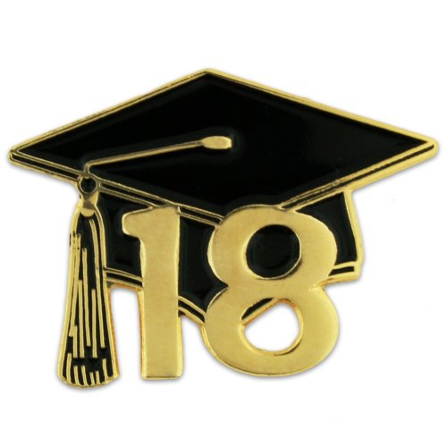PinMart Class of 2018 Graduation Cap School Lapel Pin
