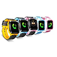 ele ELEOPTION Kids Smart Watches GPS Tracker Phone Call for Boys Girls Digital Wrist Watch, Sport Smart Watch, Touch Screen Cellphone Camera Anti-Lost SOS Learning Toy for Kids Gift