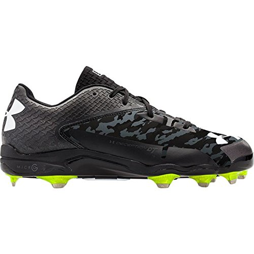Under Armour Mens Deception Low DT Metal Cleat 8 1/2 US Black/Charcoal (Black/Grey)