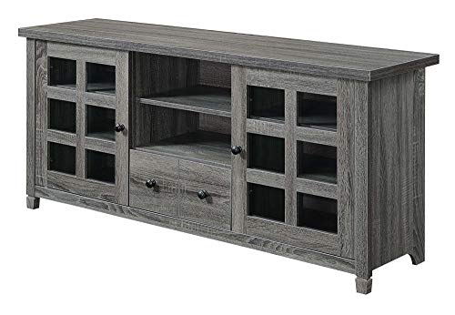 Convenience Concepts Newport Park Lane 60″ TV Stand, Weathered Gray