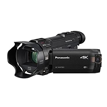Panasonic HC-WXF991K 4K Ultra HD Camcorder w/ Wi-Fi Multi Scene Twin Camera Blk