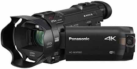 PANASONIC HC-WXF991K 4K Cinema-Like Camcorder, 20X LEICA DICOMAR Lens, 1/2.3