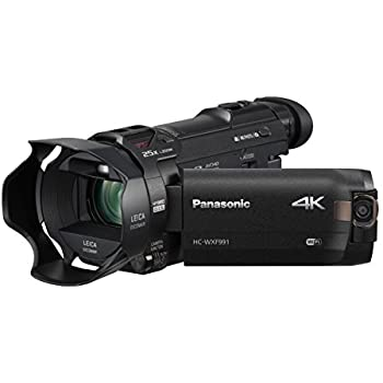 "PANASONIC HC-WXF991K 4K Cinema-Like Camcorder, 20X LEICA DICOMAR Lens, 1/2.3"" BSI Sensor, 5-Axis Hybrid O.I.S., HDR Mode, EVF, WiFi, Multi Scene Twin Camera (USA Black)"