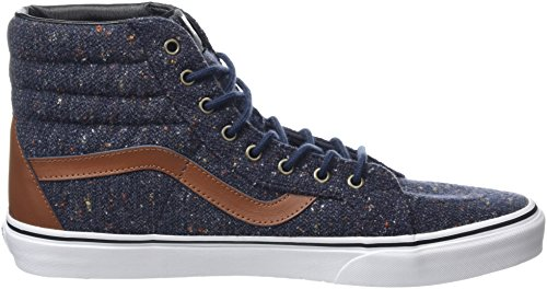 Leather Sk8 Night Vans Zapatillas amp; hi Unisex Tortoise Azul Shell Altas Reissue Parisian Wool U4CHxyq