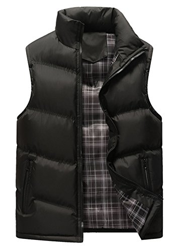 Classic Down Vest (HOWON Men's Classic Sleeveless Stand Collar Quilted Puffer Down Vest Outwear Black M)