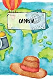 Gambia: Ruled Travel Diary Notebook or Journey  Journal - Lined Trip Pocketbook for Men and Women with Lines