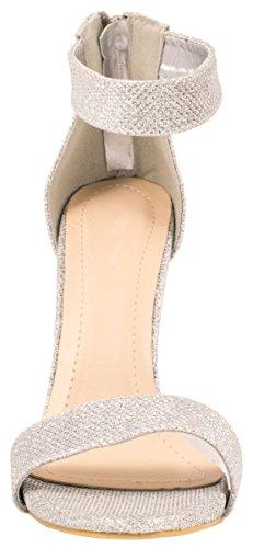 Elara - Tira de tobillo Mujer plata