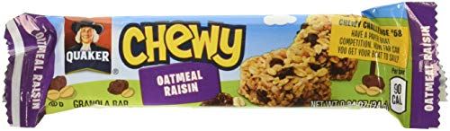 Quaker Chewy Granola Bars, Oatmeal Raisin, 96 Count (Pack of 12)