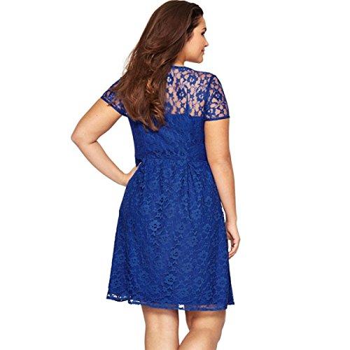 Europa Und Amerika Sexy Spitzen Nähen Kleider Blue TNcd36k - tame ...