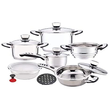 Amazon.com: Chef s Secret 12-Piece 9-ply Waterless ...