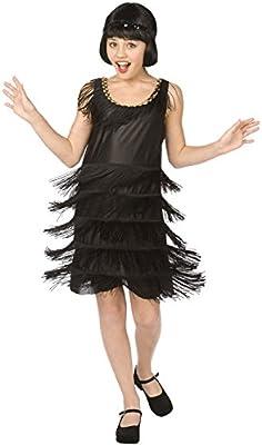 Generique - Disfraz de charlestón para niña 8-10 años (146 cm ...