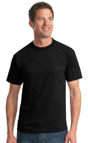 Jerzees 5.6 oz., 50/50 Heavyweight Blend Pocket T-Shirt, 2XL, (Heavyweight Pocket T-shirt)