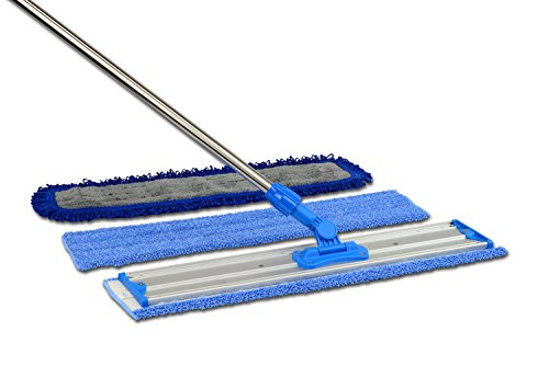 24'' Professional Microfiber Mop | Stainless Steel Handle | Premium Mop Pads by Microfiber Wholesale