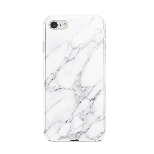 Obbii Case for iPhone 7/ iPhone 8/iPhone 6/6S Gray White Marble Desgin Slim TPU Flexible Soft Silicone Protective Durable Cover Case Compatible with iPhone 7/8/6S/6