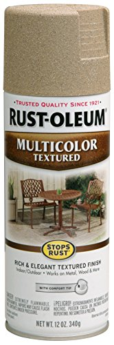 (Rust-Oleum 223524 Multi-Color Textured Spray Paint, 12 oz, Desert Bisque)