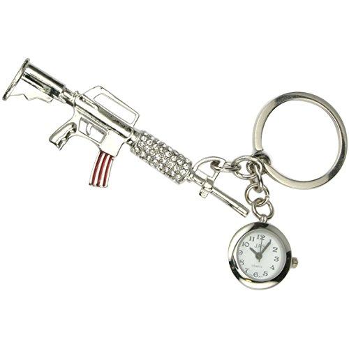JAS Unisex Novelty Belt Fob/Keychain Watch Tommy Gun