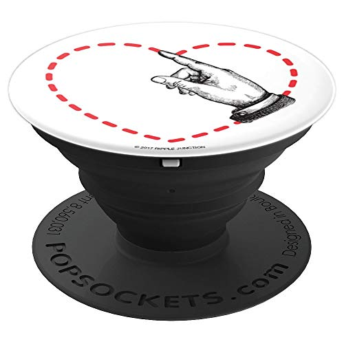 Ripple Junction Clip Art Hand Drawing Heart  PopSockets Grip and Stand for Phones and Tablets