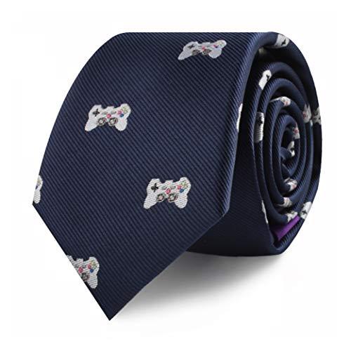 (Video Gamer Ties | Online Gamer Esports Computer Games Neckties for Men | Woven Skinny Neckties | Present for Video Gamer | Bday Gift for Guys (Gamer))