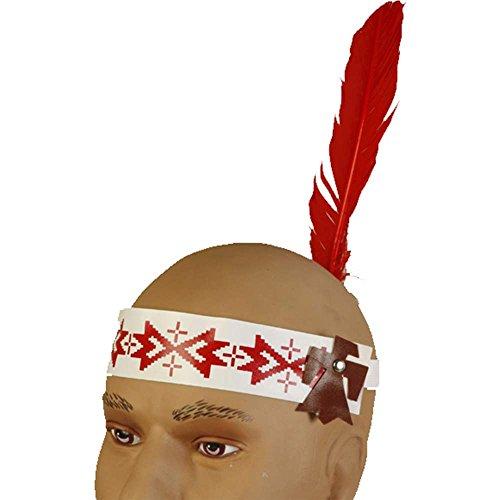 Native American Headband Fabric Feather