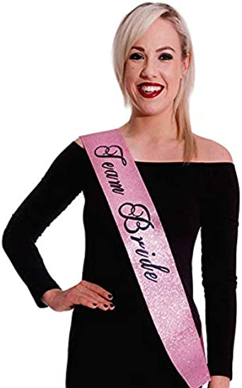 Hen Party Pink Glitter Bride To Be Sash