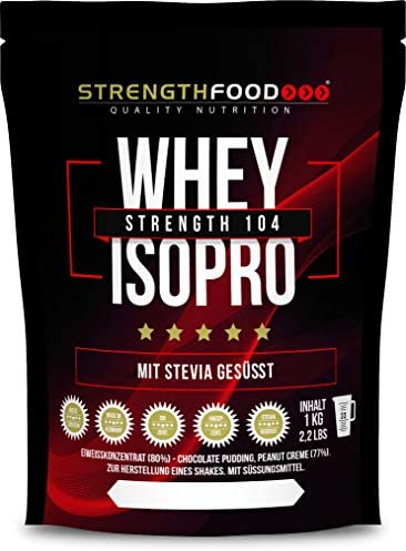 Whey Protein Isolate - Stevia und Xylit gesüßt - Low Carb Instant Eiweiss Shake (Vanille 1000g)