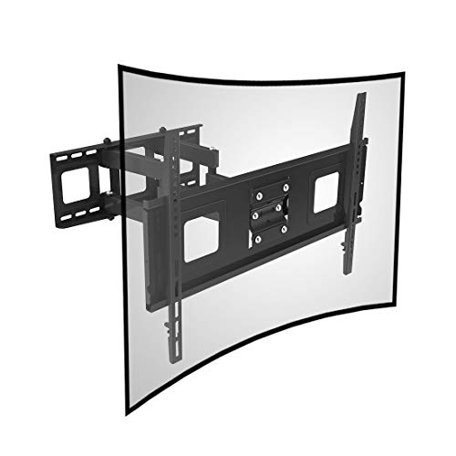 Fleximounts Curved TV Wall Mount Bracket for 32-65 inch Curved TV with Max 600x400mm Wall Mount Plate VESA Size (Samsung Curved Tv)