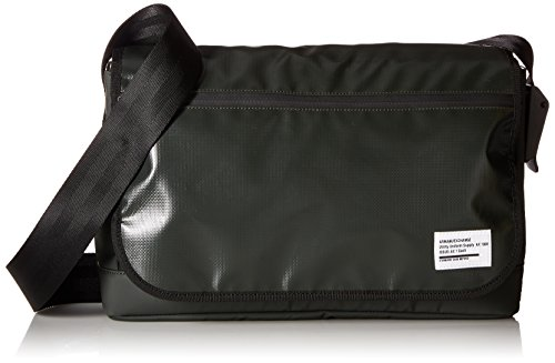 Armani Exchange Men's Utility Tarp Messenger Bag, Dark Moss by A|X Armani Exchange
