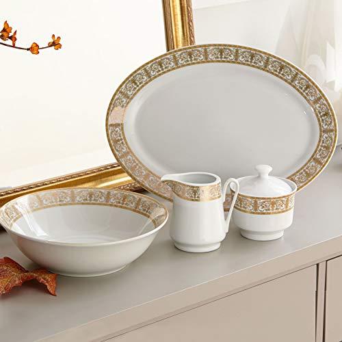 Brylanehome Medici 5-Pc. Porcelain Completer Set - Gold White ()