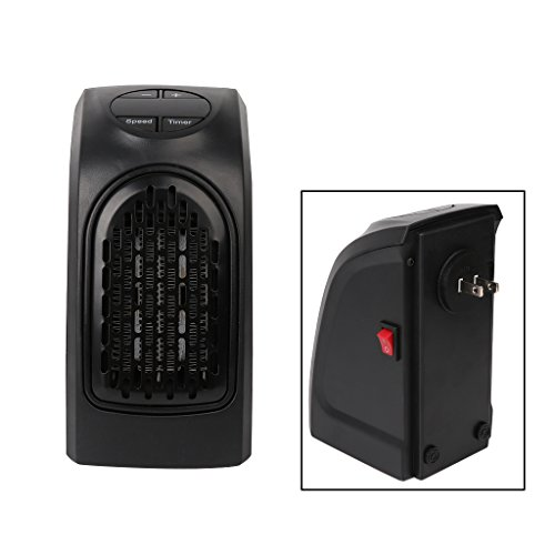AISme Mini Handy Electric Heater Portable Space Home Wall-Outlet Warmer Fan Air Heater (US Plug)