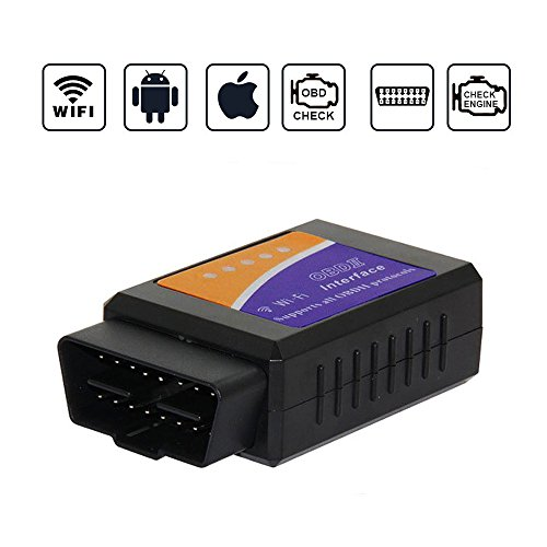 Bestmotoring Car WiFi OBD 2,Wireless OBD2 Car Code Reader Scan Tool, OBD2 Scan Tool Scanner Adapter Check Engine Light Diagnostic Reader Tool for iOS & Android