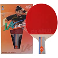 Double Fish A series Ping Pong Paddle Professional Table Tennis Racket with 7-Ply Wood High Elasticity Rubber Easy to Control Design for Spin