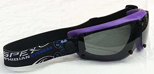 Spex Amphibian Eyewear- Limited Edition Purple with All Weather Polarized Lenses- Kitesurf, Jetski, Water Sport Goggles (Water Usa Ski)