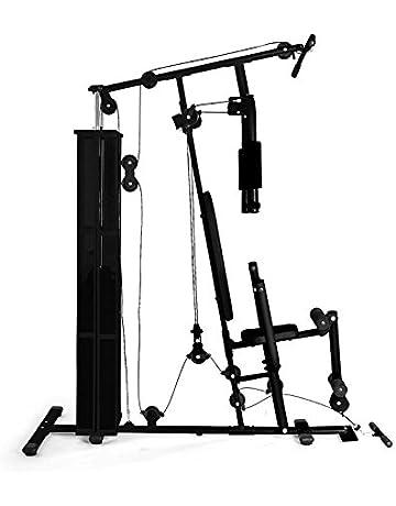 Klarfit Ultimate Gym 5000 • Multiestación musculación • Jaula Entrenamiento Profesional • Pesos y poleas Ajustables
