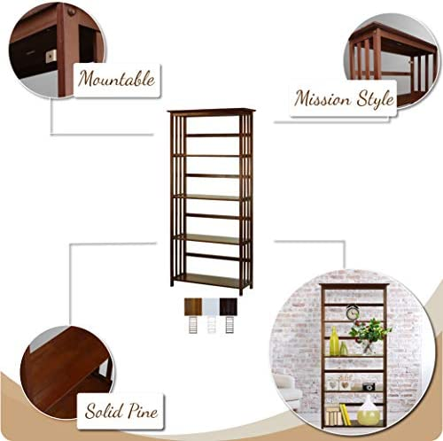 home, kitchen, furniture, home office furniture,  bookcases 12 on sale Casual Home Mission Style 5-Shelf Bookcase, Espresso in USA