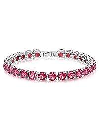 0.75 Carat Round Cut Cubic Zirconia CZ Tennis Bracelet for Women 7 inch