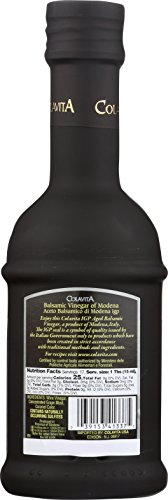 Colavita Aged Balsamic Vinegar of Modena IGP, 3 years, 8.5 Floz, Glass Bottle 2 AGED for 3 years in a series of oak, cherry, and walnut barrels HIGH LEVEL of cooked grape must (55%) CERTIFIED product of Modena, Italy