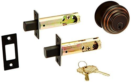 Emtek Parts - Solid Brass Single Cylinder Low Profile Deadbolt Oil Rubbed Bronze with 2 3/8